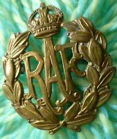 WW1 Royal Air Force Cap Badge KC RAF Badge BRASS 2 Lugs ANTIQUE Original