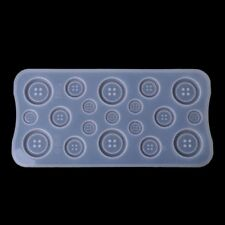 Silicone DIY Button Clear Mold Jewelry Making Casting Epoxy Mould Craft Tool New