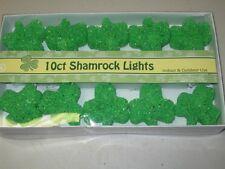 NEW-Set Of 10 Shamrock Light Set-Indoor/Outdoor Use