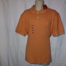 NEW NWT Men's IZOD Polo Golf Style Short Sleeve Shirt-Muted Peach/Orange-XXL