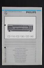 PHILIPS CD-110 CD 130 CD 140 Original Bedienungsanleitung/Operating Instructions