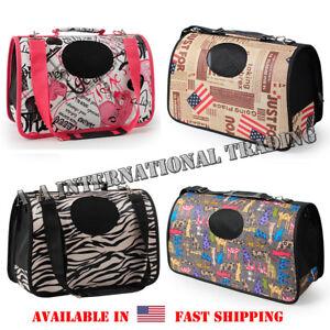 Airline approved Pet Dog Cat Carrier Foldable Travel Bag Tote Shoulder w/ Strap