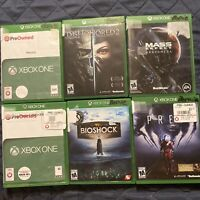 6 Game Lot Xbox One Mass Effect, Prey, Record,Dishonored 2 Free Shipping