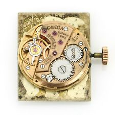 Omega Watch Movement Calibre 620 Mechanical Wind With White Rectangular Dial