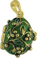 Faberge Egg Pendant / Charm 2.2 cm green #2-1017