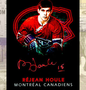 Rejean Houlle Montreal Canadiens Autographed 8x10