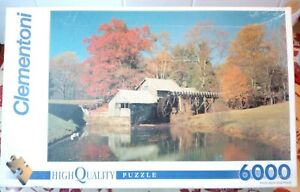 Clementoni Blue Ridge Mountains USA 6000 piece Jigsaw Puzzle Only completed once