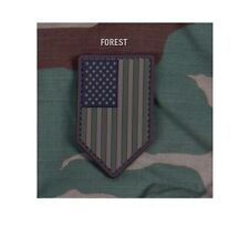 Milspec Monkey MSM PVC Patch US American Flag Vertical Shield - FOREST - NEW
