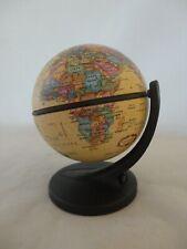 "2001 Replogle Mini Globe Desk Size 6 Inch Tall 3.5"" Base (1)"