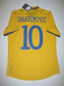 New 2012-2014 Umbro Sweden Zlatan Ibrahimovic #10 Short Sleeve Shirt Kit Jersey
