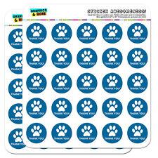 "Thank You Dog Paw Print Blue Birthday Baby Boy 1"" Scrapbooking Crafting Stickers"