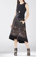 NWT BCBG MaxAzria Elley Sleeveless Peplum Top, Vest, Black size L $198.00