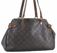 Authentic Louis Vuitton Monogram Batignolles Horizontal Tote Bag M51154 LV C1325