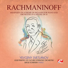 Rachmaninoff - Rhapsody on Theme Paganini Piano & Orch G Min [New CD] Extended P