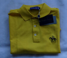 "Ralph Lauren Purple Label POLO CAMICIA MADE IN ITALY ""Bright Yellow"" taglia S"