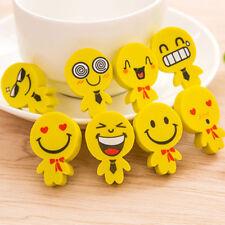 Clever 4PCS Funny Emoji Rubber Pencil Eraser Novelty Students Stationery Toy