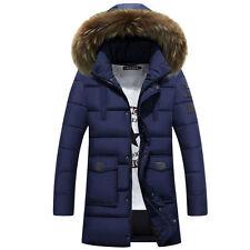 Quality Men's Winter Warm Down Cotton Coat Outwear Fur Collar Hooded Jacket C