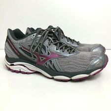 Mizuno Wave Inspire 14 Women's Size US 9.5 Running Walking Shoes Gray/Purple