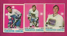 1970-71 OPC CANUCKS MAKI + BOUDRIAS + CULLEN  CARD (INV# A1907)