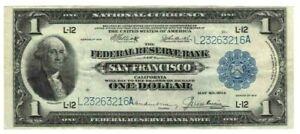 "BEAUTIFUL 1918 $1 LARGE ""SAN FRANCISCO"" ""HERALDIC EAGLE"" NAT CURRENCY FR#746  NR"