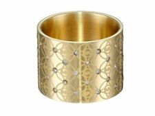 Michael Kors Mk4289 Heritage Monogram Logo Barrel Ring - Gold, Size 7