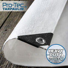 More details for  200gsm heavy duty tarpaulin white waterproof ground sheet tarp cover camping