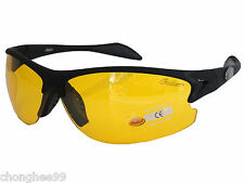 New Indian Motorcycle Sunglass Mens Womens Day Night Driving Mirror Yellow Lens