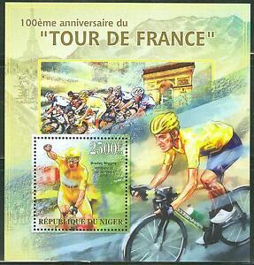 NIGER 2013 100TH ANNIVERSARY OF THE TOUR DE FRANCE CYCLING RACE SOUVENIR S/SHEET