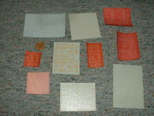 Walthers etc decals HO Data sheets various  G56