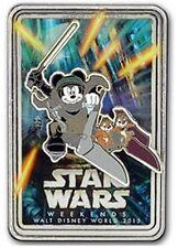 Disney LR Pin Star Wars Jedi Mickey Chip Dale Ewok Logo Speeder 2013 Weekends