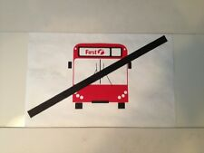 """First London Bus Blind (14"""") Shabby Chic Retro - No Bus White"""