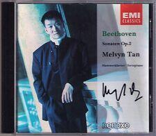 Melvyn TAN Signiert BEETHOVEN Piano Sonata Op.2 No.1 2 3 EMI CD 1993 陈万荣