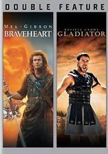 Braveheart / Gladiator (2 Dvd set, 2013) Mel Gibson Russell Crowe