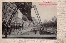 Elberfeld Elektrische Schwebebahn  Reliefkarte 1902