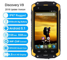 "Android Rugged Smartphone 3G Unlocked 4.5"" Discovery V9 Yellow Cell Phone +32GB"