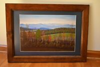 Framed Matted Limited Edition Art Print Roten's Mountain Signed No. 1