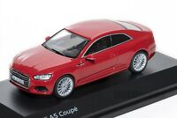 Audi A5 Coupe in Red, official Audi dealership model, 1:43 scale, car gift him