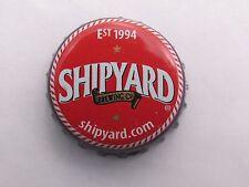 Beer Bottle Crown Cap ~ SHIPYARD Brewery Pumpkinhead Ale ~ Portland, MAINE; Ship