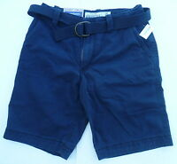 Mens AEROPOSTALE Longer Length Belted Flat-Front Casual Shorts NWT #0822