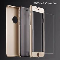360 Full Protective Tempered Glass Acrylic Case Cover For Apple iPhone 6 6s Plus
