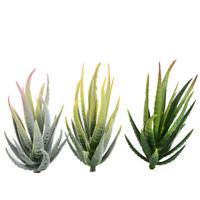 Fake Artificial Green Plant Aloe Vera Potted Simulation Home/Office Decor PVC