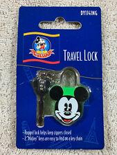 Disney Mickey's World Mickey Mouse Green Small Travel Lock with 2 Keys New