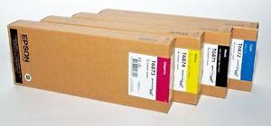 4x Original Tinte Epson SureColor SC-S30600 S50600 / T6871 T6872 T6873 T6874 INK