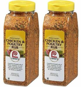 Lawry's Perfect Blend Chicken & Seasoning Poultry Rub 24.5 oz Pack of 2