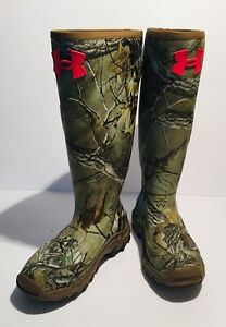 Under Armour Women's Real Tree Mud Hawg Rubber Hunting Boots Size 6 *NEW*