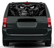 Black and Grey Demon Skull Monster Car or caravan Window Graphic Sticker / Decal