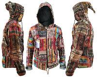 hippie boho vintage retro cotton hand knitted jacket elf hat festival nepalese