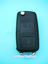 VW 2 Button Remote Flip Key Shell Case For Volkswagen Golf Passat Polo Jetta