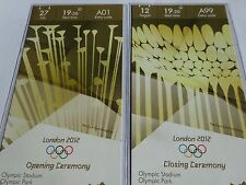 London 2012 Olympic Games ORIGINAL CAT A OPENING & CLOSING CEREMONY Tickets !!