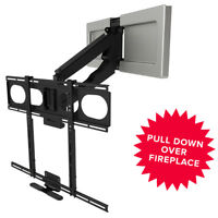 """MantelMount MM540 Pull Down Fireplace TV Mount For 44""""-80"""" TVs Above Mantel"""
